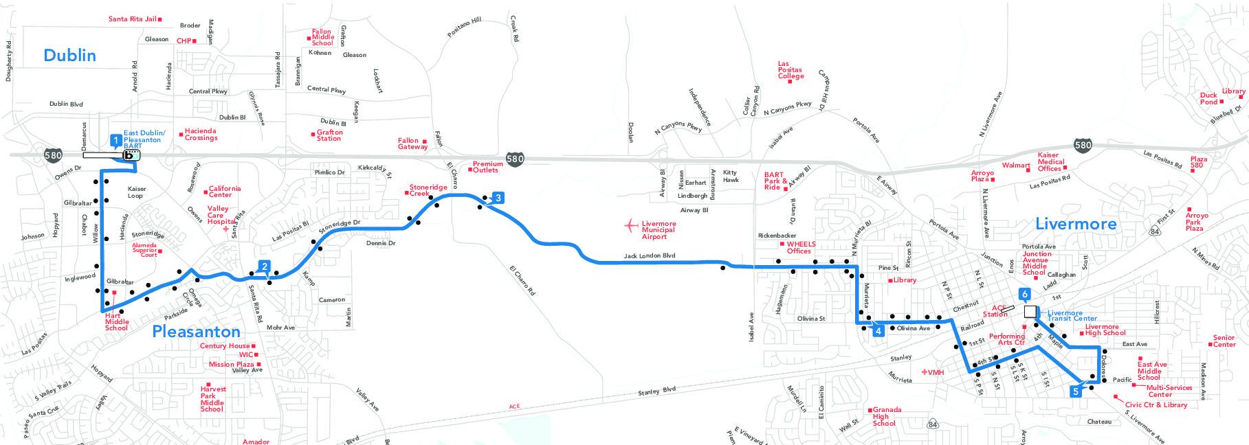 14 bus route - wheels - sf bay transit