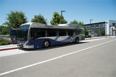 Rapid bus on street