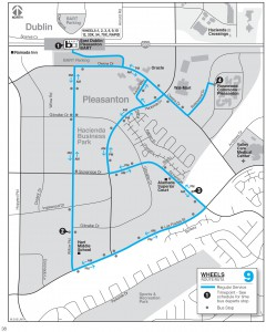 Wheels route 9 map