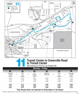 Wheels route 11 map and schedule