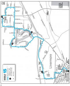 Wheels route 15 map