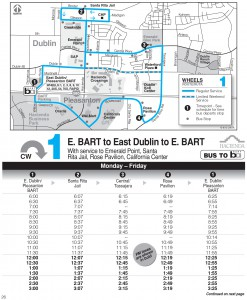 Wheels route 1 map and schedule