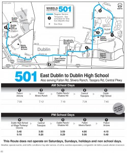 Wheels route 501 map and schedule