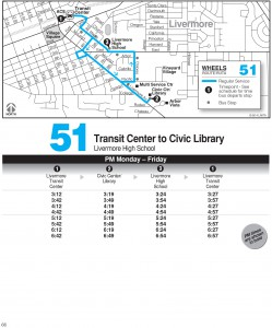 Wheels route 51 map and schedule