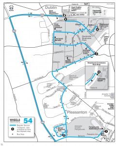 Wheels route 54 map