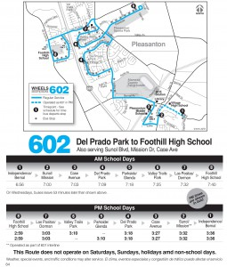 Wheels route 602 map and schedule
