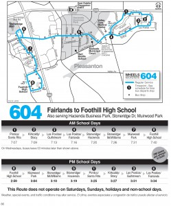 Wheels route 604 map and schedule
