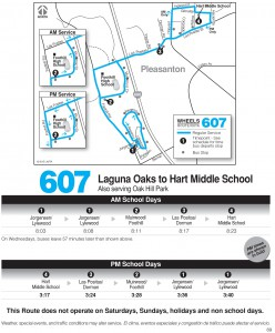 Wheels route 607 map and schedule
