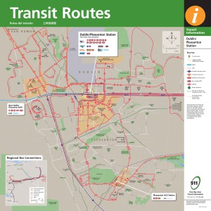 Pleasanton transit routes brochure