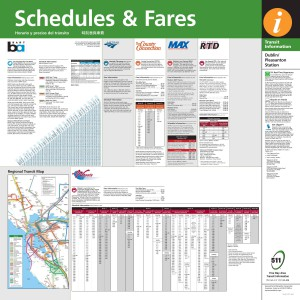 Dublin/Pleasanton schedules and fares brochures