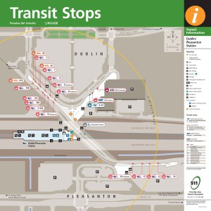 Dublin/Pleasanton Transit Stops brochure