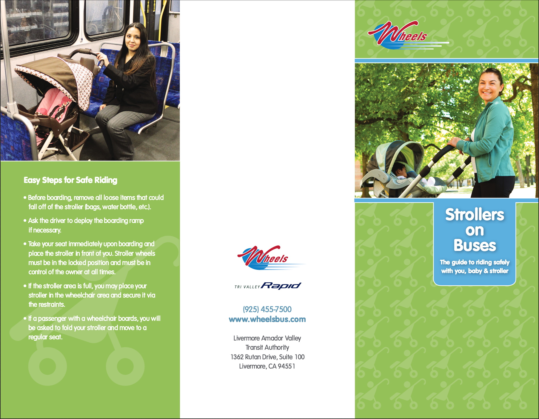 Strollers on bus pamphlet