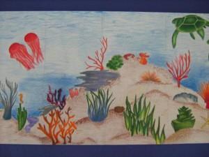 Mural of sea life