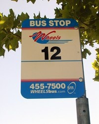 bus route sign example