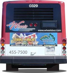 Transit advertising image