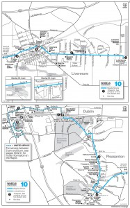 Route 10 Schedule Map