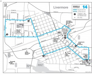 Route 14 Schedule Map