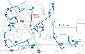Dublin Route Map