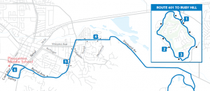 601 Route Map