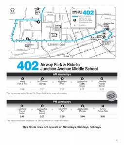 Route 402 Schedule