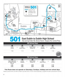 Route 501 Schedule
