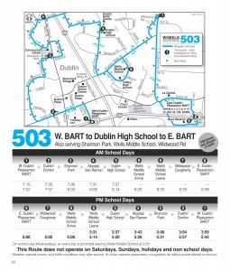 Route 503 Schedule