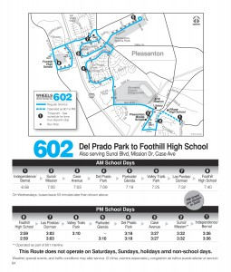 Route 602 Schedule
