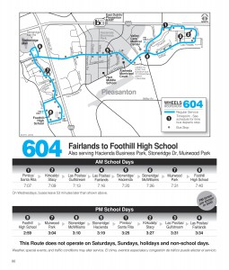 Route 604 Schedule