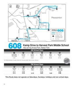 Route 608 Schedule
