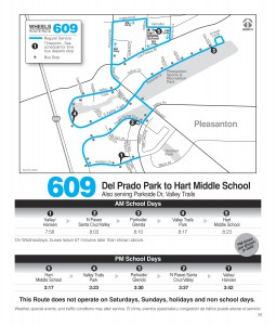 Route 609 Schedule