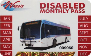 Disabled monthly pass