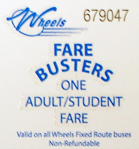 Adult/Student single fare card