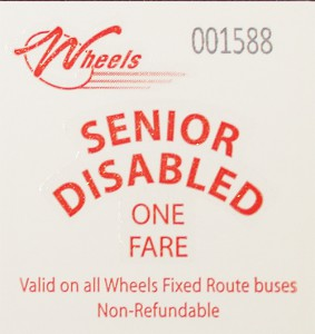 Senior/Disabled One way fare card