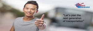 YSA Asian Thumbs Up for Wheels Forward