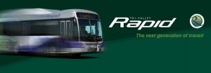 Rapid bus banner
