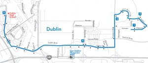 East Dublin Route Map