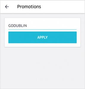 Go Dublin promo button