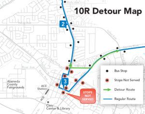 10R Detour Map