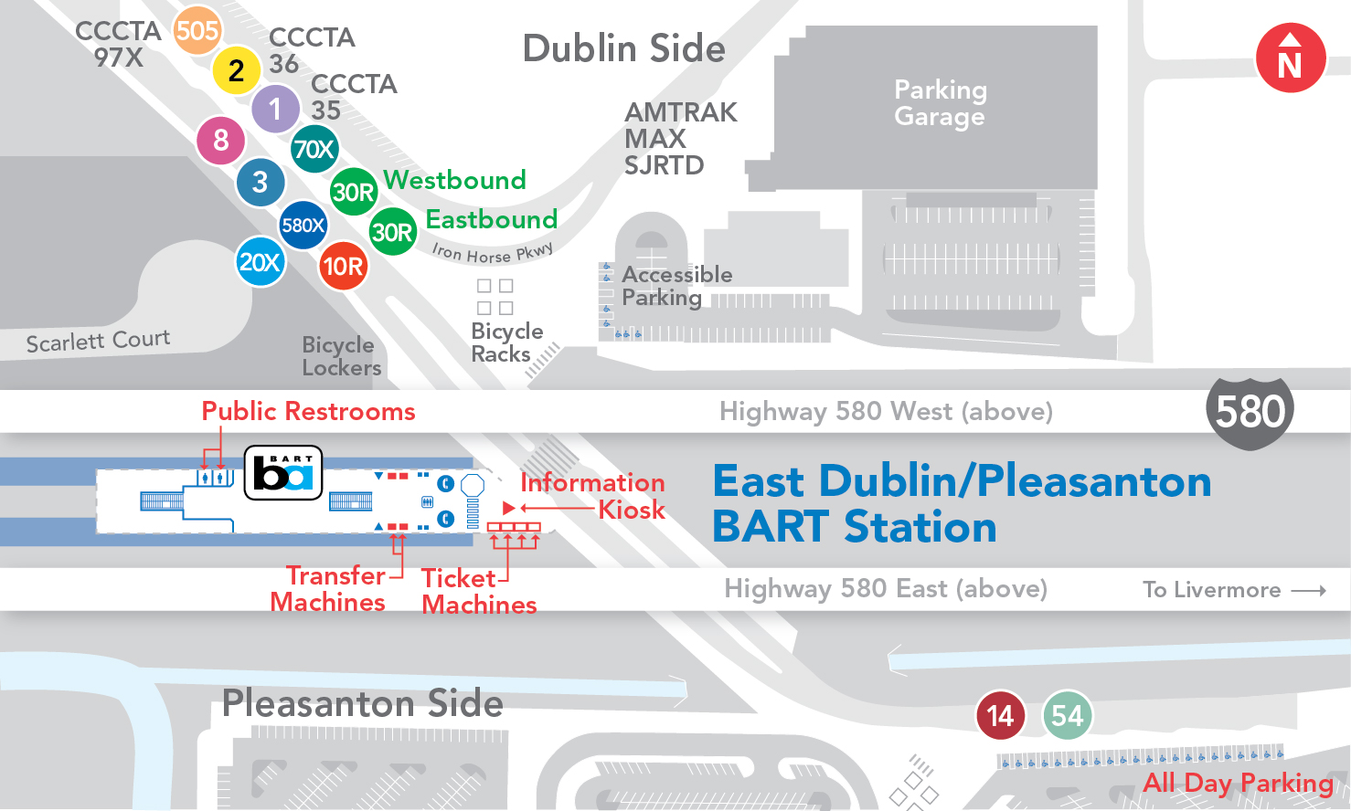 East Dublin/Pleasanton BART Station Map